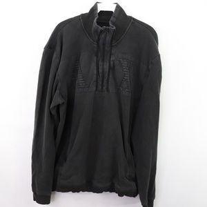 Armani Exchange Mens XXL Spell Out Sweater Black